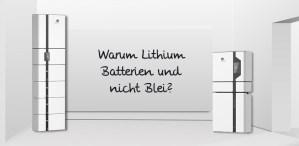 Warum Lithium Batterien und nicht Blei
