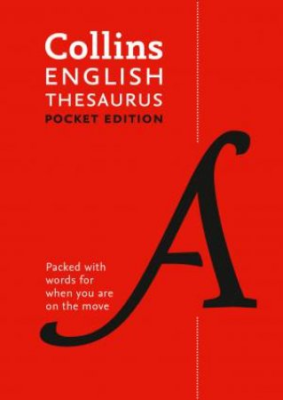Collins Pocket English Thesaurus  7th Ed by Various