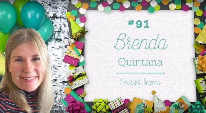 Brenda Quintana Stampin' Up Top 100 in 2017