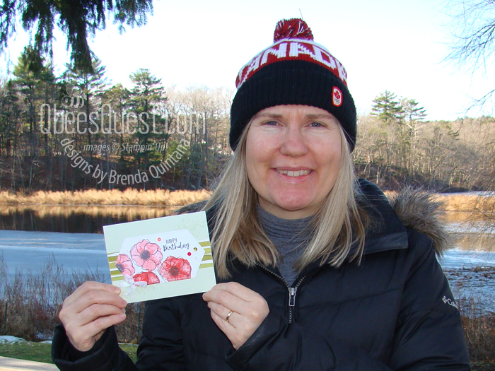 Brenda with Card