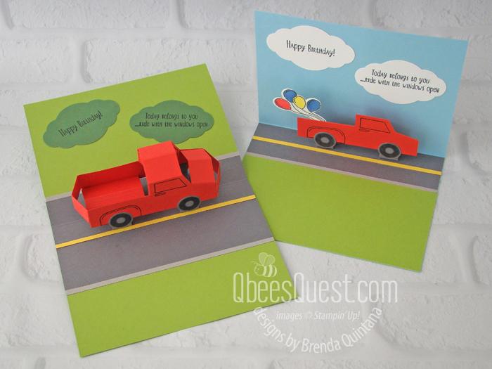 Truck Pop-Up Cards