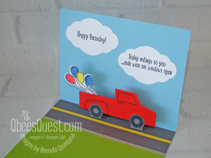 Easy Truck Pop-Up Card
