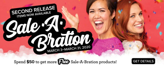 Sale-a-bration 2nd Release Banner
