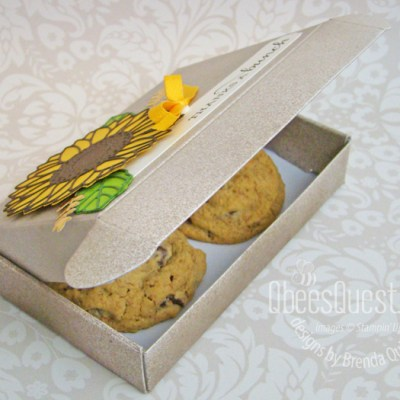 Celebrate Sunflowers Cookie Box