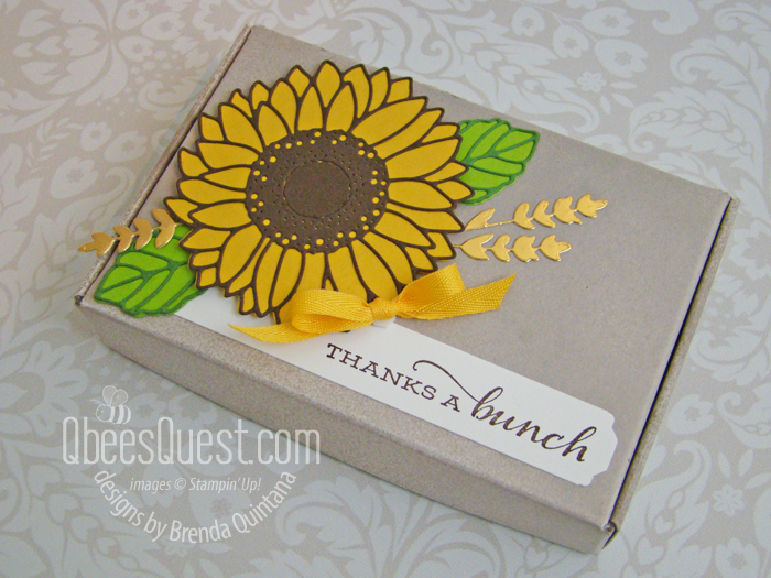 Celebrate Sunflowers Cookie Box