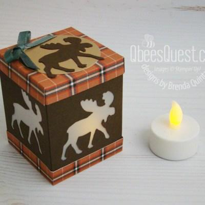 Stampin Up Moose Punch Tea Light Holder