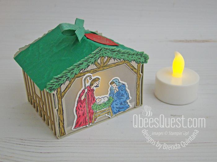 Stampin' Up Peaceful Nativity Gift Box