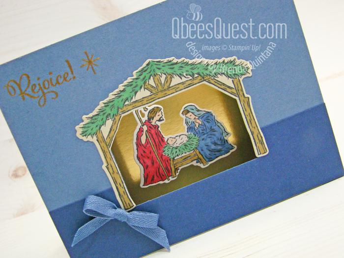 Stampin' Up Peaceful Nativity Shadowbox Card