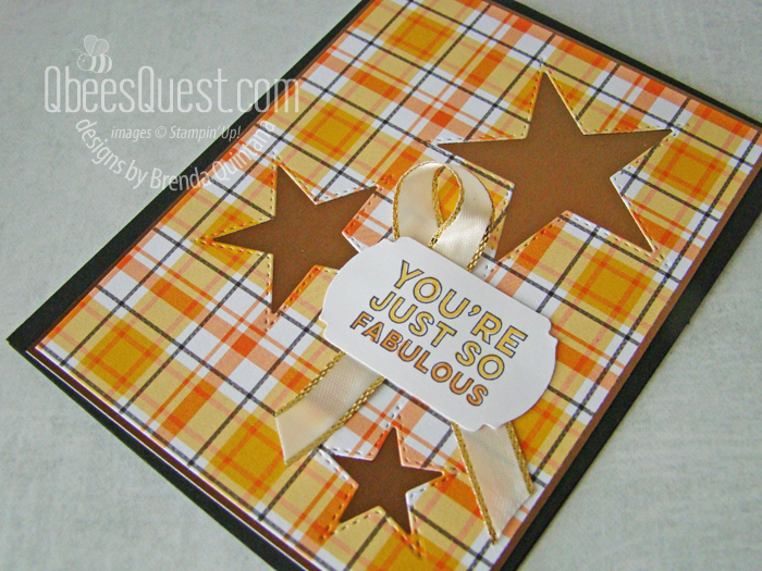 Stampin' Up Stitched Stars Card