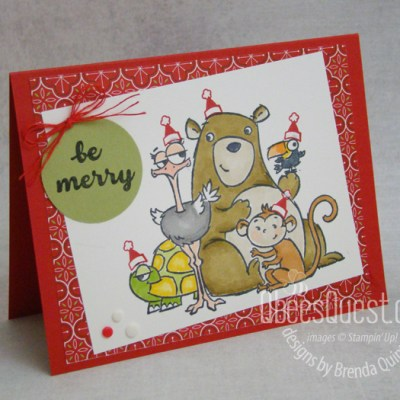 Stampin' Up From All of Us Christmas Card