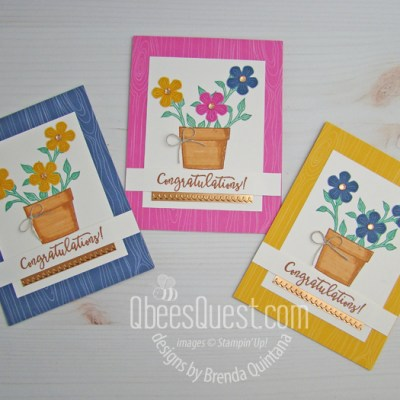Basket of Blooms Congratulations Cards