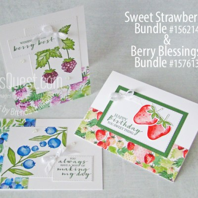 Stampin' Up Berry Blessings & Sweet Straberry Cards