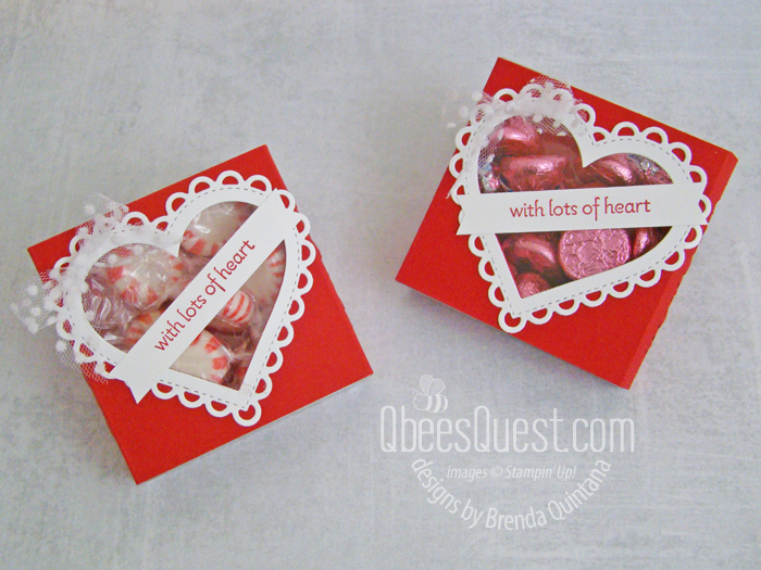 Stampin' Up Heart Window Slider Box