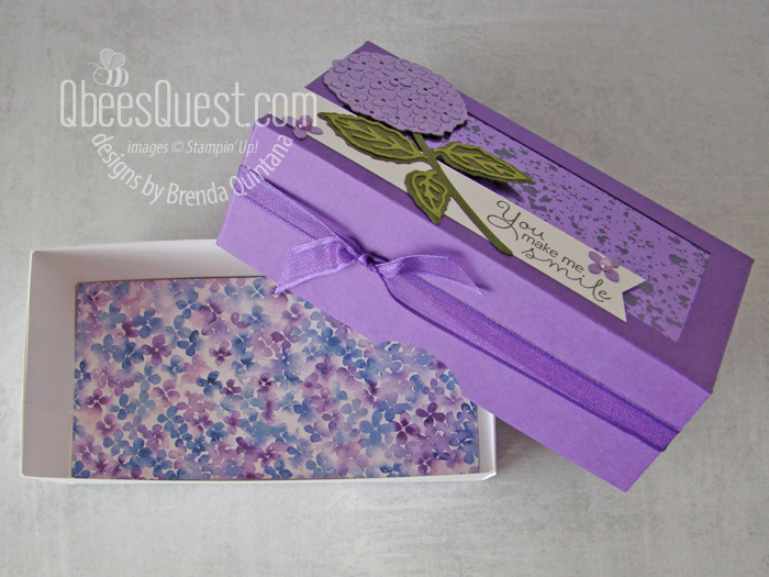 Stampin' Up Hydrangea Haven Gift Box