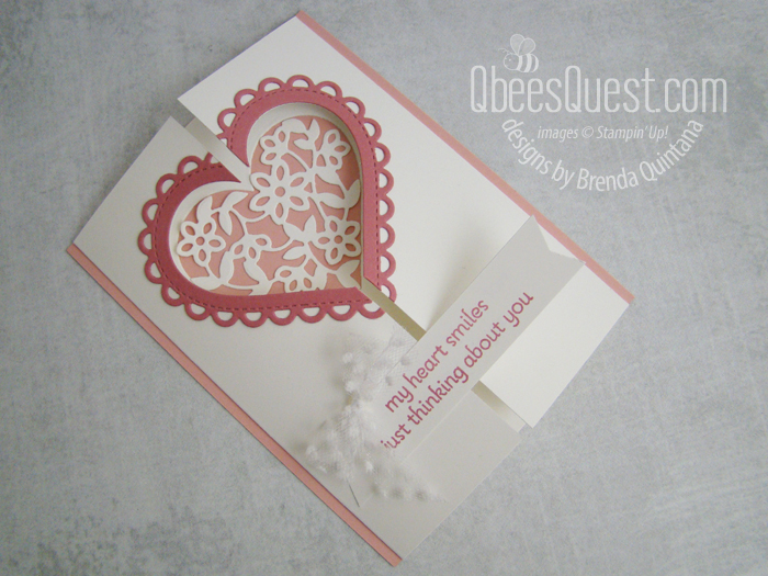 Stampin' Up Lots of Heart Fancy Fold Card