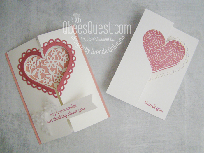 Stampin' Up Lots of Heart Fancy Fold Cards