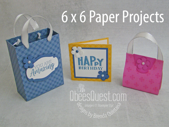 Stampin' Up 6 x 6 Paper Gift Set