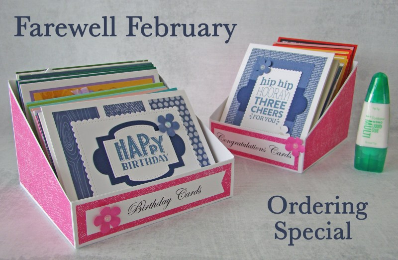 Farewell February Ordering Special Banner