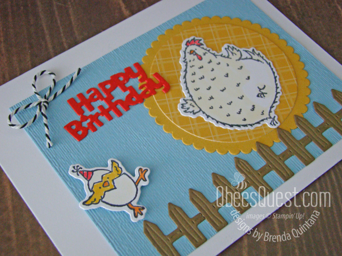 Stampin' Up Hey Birthday Chick Card