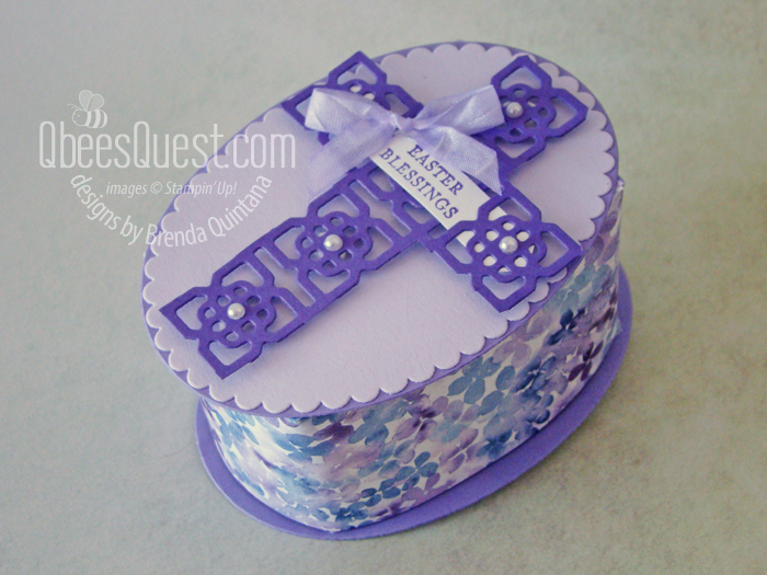 Stampin' Up Elegant Easter Cross Box
