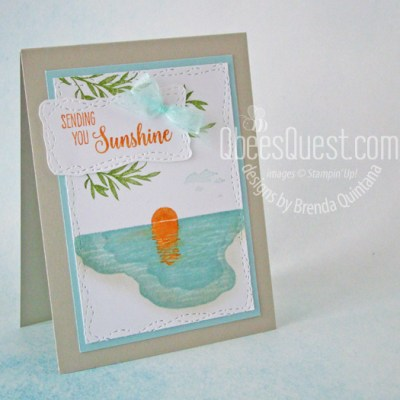 Stampin' Up Sending Sunshine Card