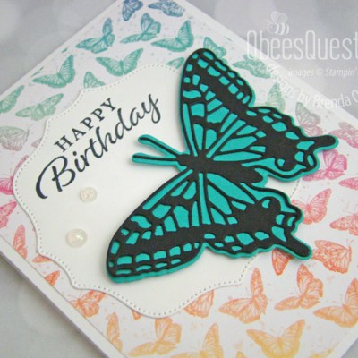 Stampin' Up Butterfly Brilliance Card