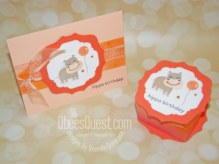 Stampin' Up Hippo & Friends Box & Card