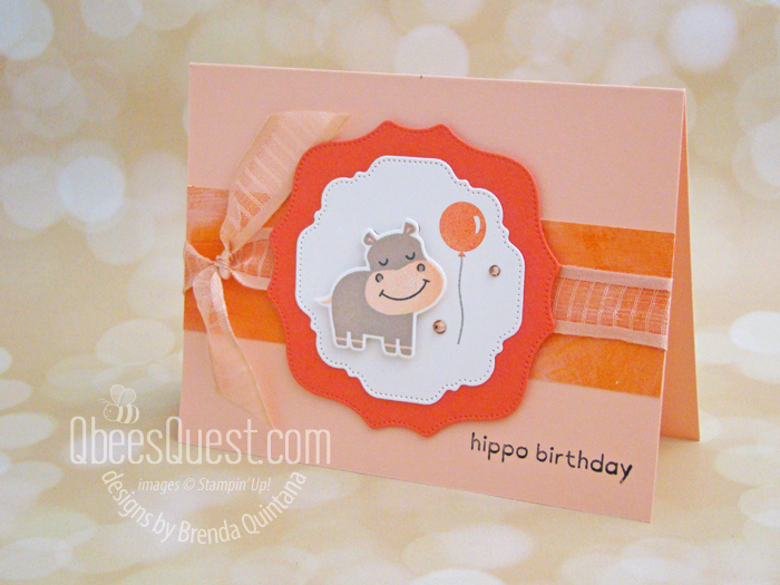 Stampin' Up Hippo & Friends Card