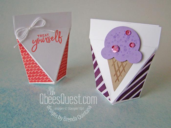 Stampin' Up Sweet Ice Cream Treat Holder