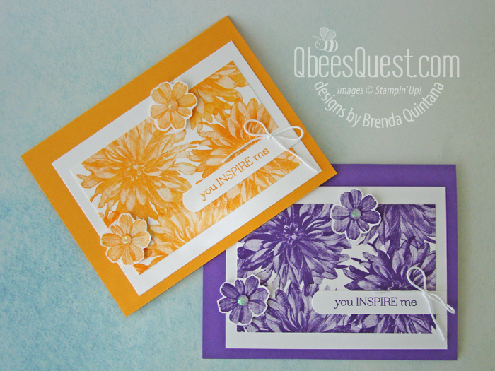 Stampin' Up Delicate Dahlias Cards