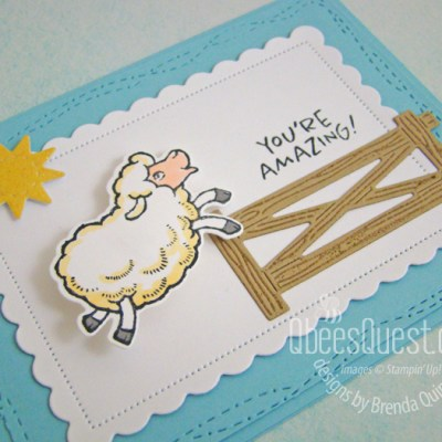 Stampin' Up Wobbly Sheep Card