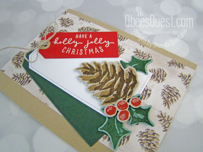 Stampin' Up Painted Christmas Card