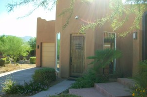 The casita has a separate entrance and single car garage