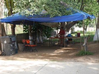Existing lunch shelter