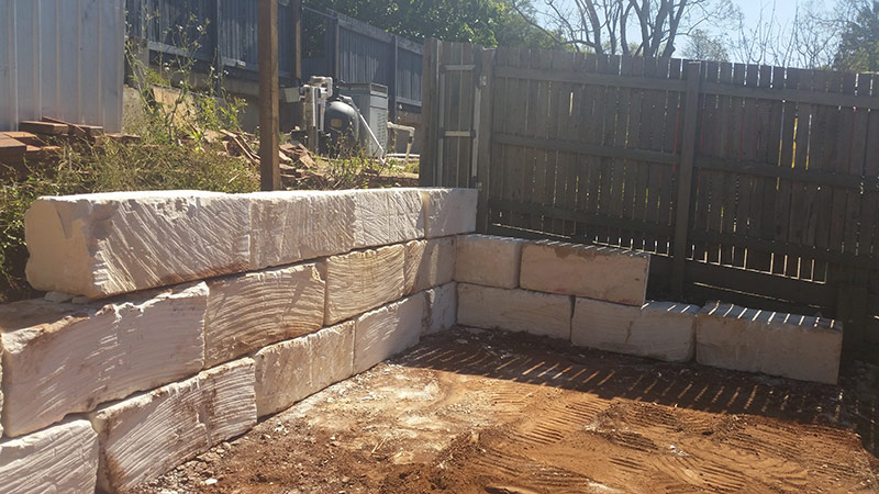 Sandstone Block Retaining Wall Qc Landscaping