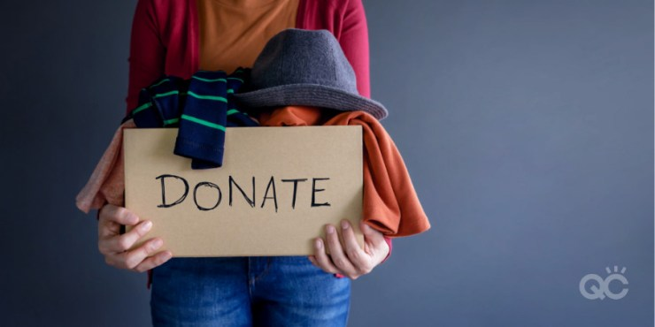 donate clothes in box spring cleaning fashion stylist tips