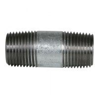 "Galvanized Pipe Nipple - 1/2"" x 2"" | QC Supply"