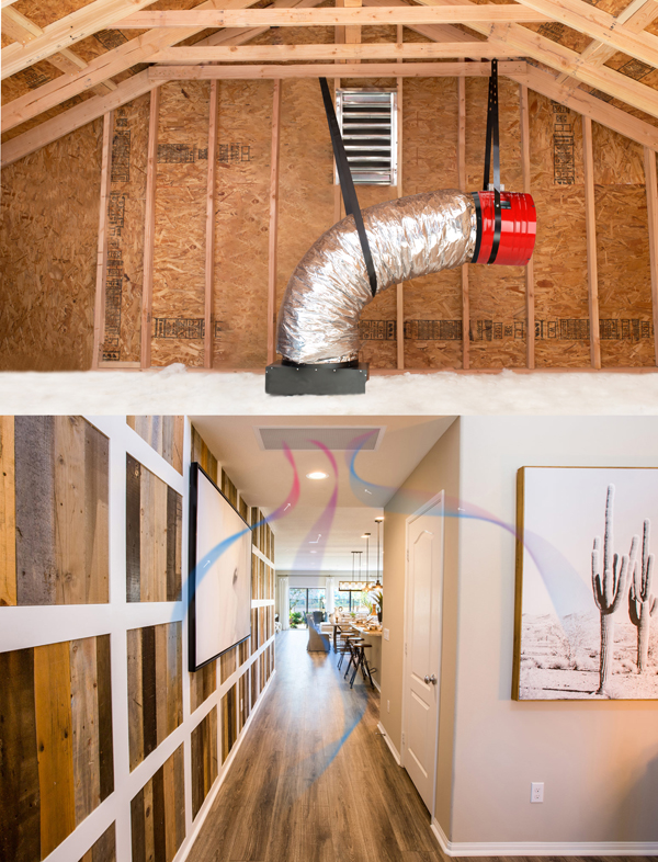 attic fans exhausts air from home
