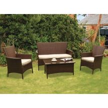 Kendal Rattan 4 Piece Conservatory Set Garden Furniture
