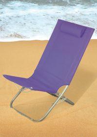 Folding Beach Chair Purple - Buy Online at QD Stores