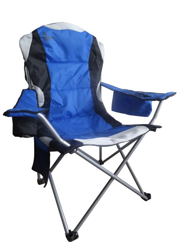 Deluxe Folding Travel Chair  Blue  Buy Online at QD Stores