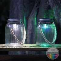 Solar Garden Light Glass Jar With Rope - Buy Online at QD ...