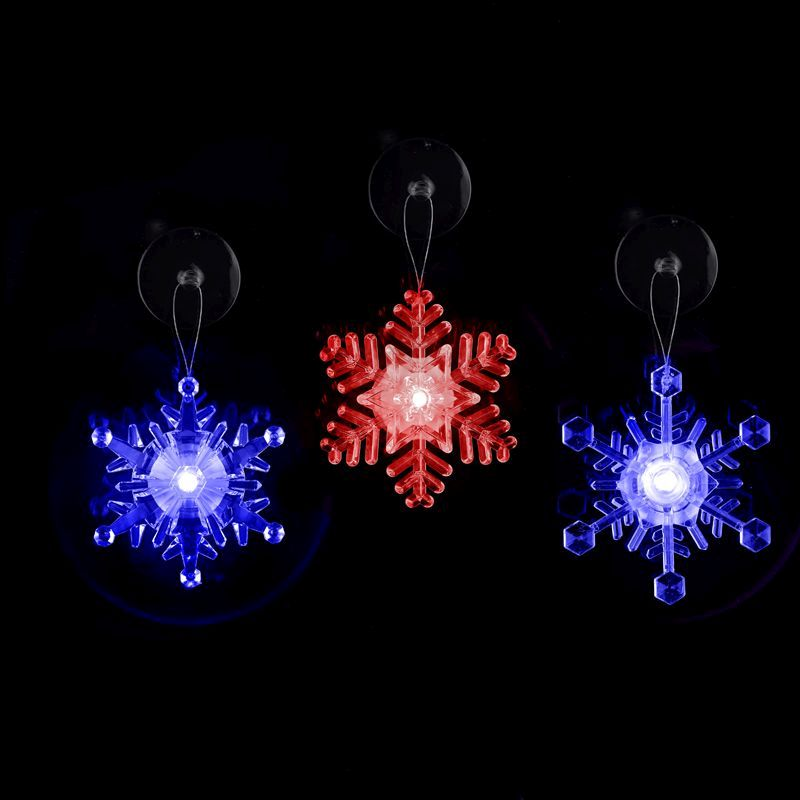 Snowflake Window Decoration with LED Lighting