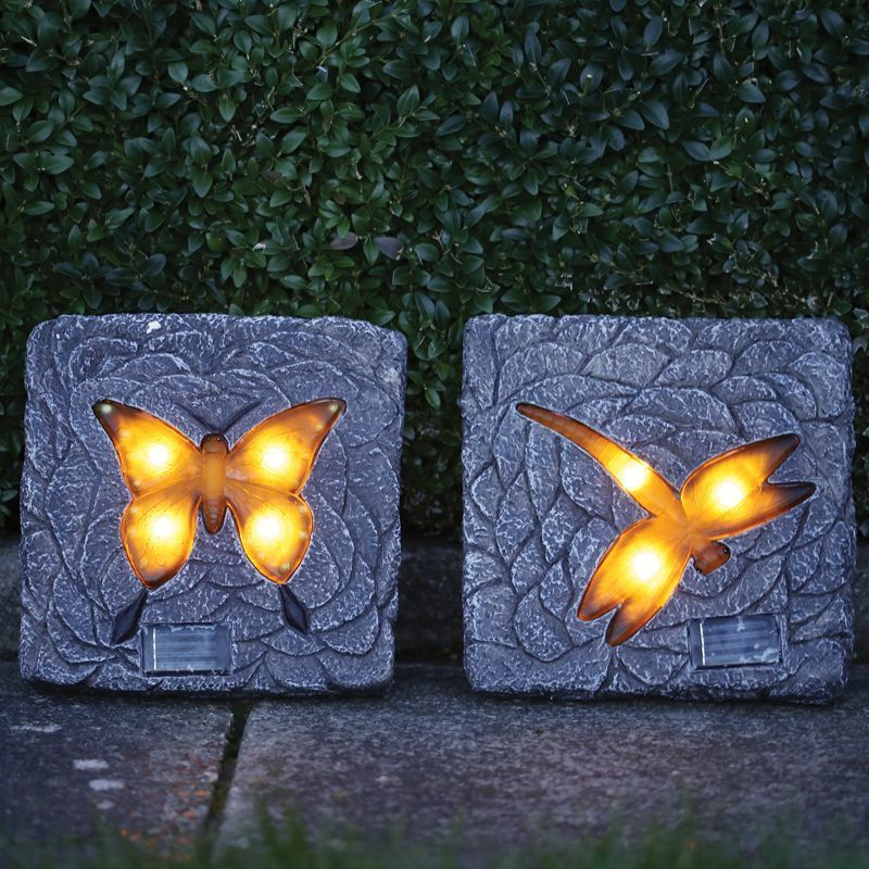 resin outdoor chairs rolling for office solar stepping stone light (dragonfly) - buy online at qd stores