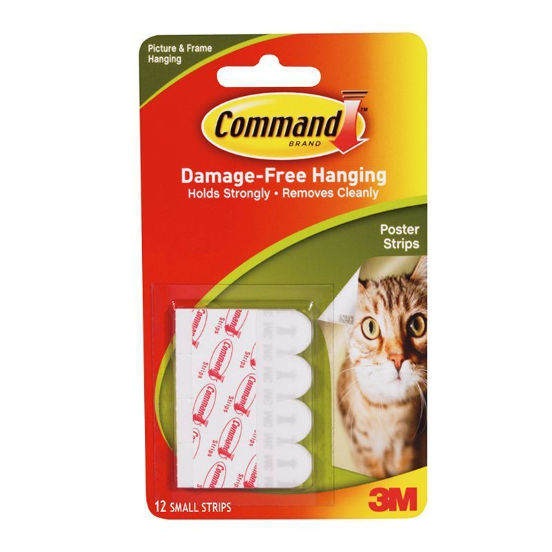 3m command damage free hanging poster strips