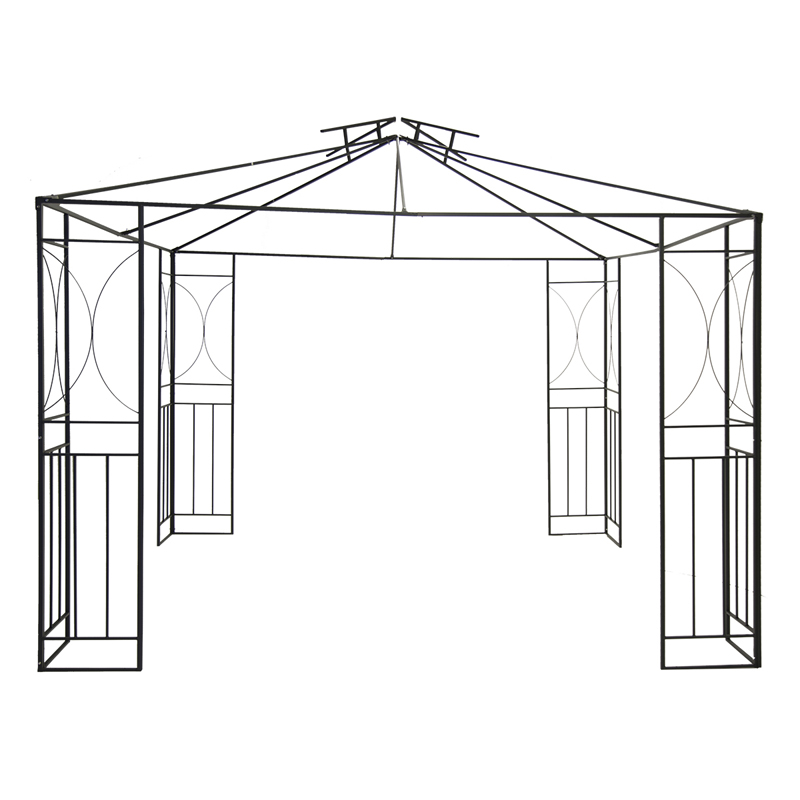 Party Tent Steel Art Garden Gazebo with Fly Screen Cream