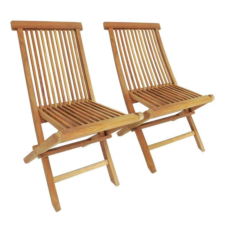 solid wooden tweak folding garden patio chairs 2 set