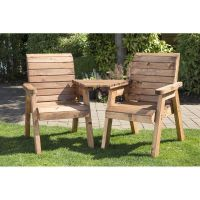 2 Seat Tete-a-tete Scandinavian Redwood Garden Furniture ...