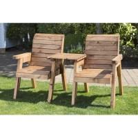 2 Seat Companion Scandinavian Redwood Garden Furniture ...