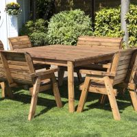8 Seat Square Table Deluxe Scandinavian Redwood Garden ...